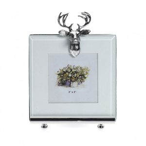 "Picture Frame 3"" x 3"" with Stag motif"